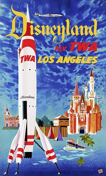 "Airline 8.5/"" X 11/""  Travel Poster TWA Los Angeles"