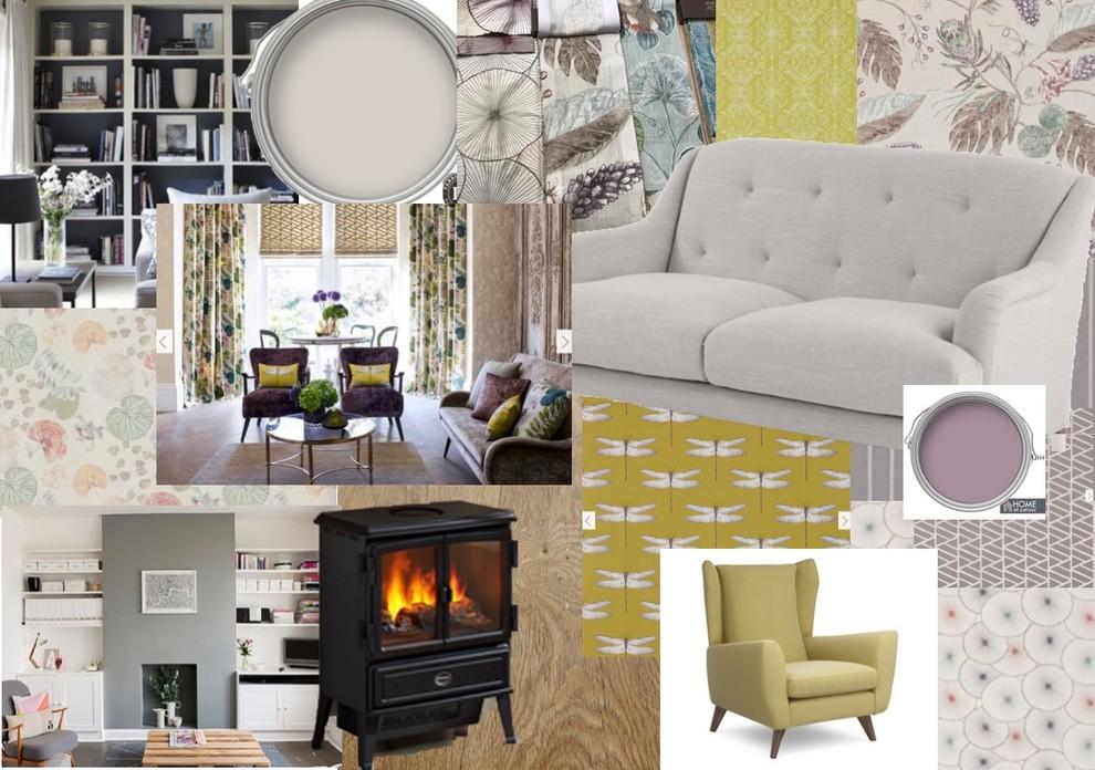 Traditional luxury living room - mood board