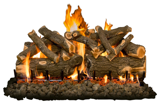 42 Arizona Weatherd Oak Charred Logs, 2-Burner, Propane Millivolt With Remote.