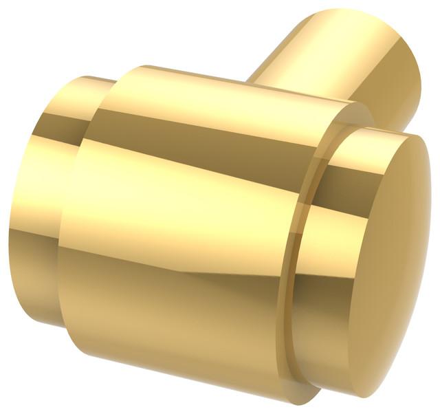 1 Knob, Polished Brass.