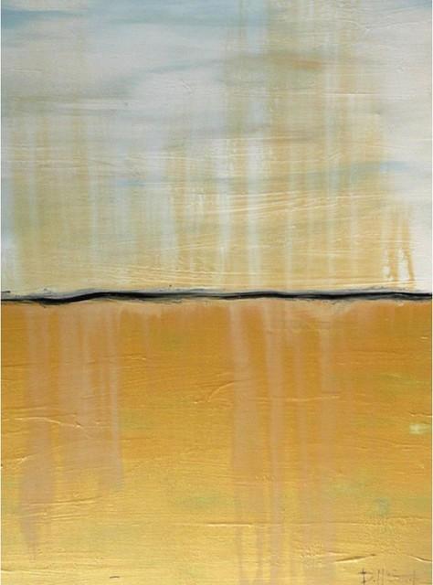 "Darco Arte ""orizzonte 138"" Painting, Yellow, 32""x48""."