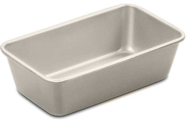 "Chefs Classic Non-Stick Metal 9"" Loaf Pan, Champagne."