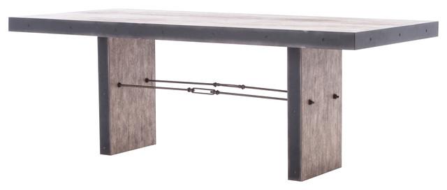 Modern Wood And Metal Furniture reginald modern classic distressed wood metal rectangular dining