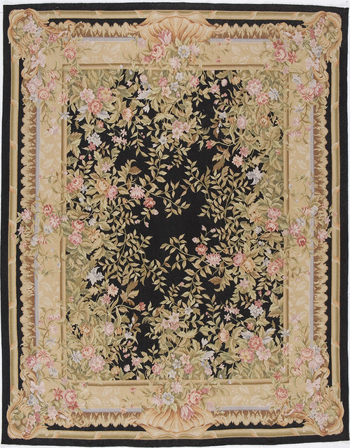 Aubusson Marseilles Black 10x14 Area Rugs By Due Process