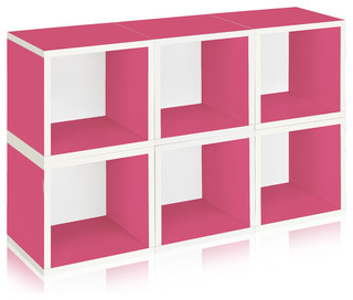 Keaton Stackable Storage Cube Set, Pack of 6 - Contemporary - Bookcases - by Way Basics
