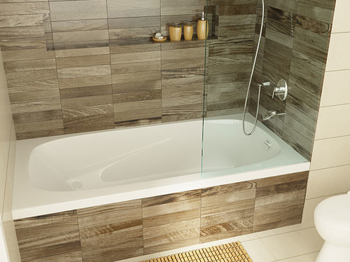 Can a drop in tub be installed in an alcove for Alcove bathtub dimensions