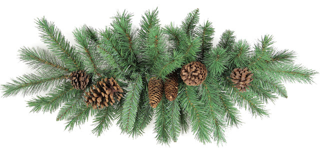 45 Tips Christmas Pine Swag With Natural Pine Cone.
