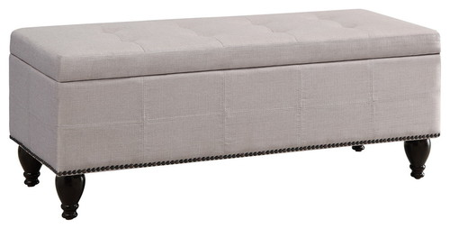 Darrah Upholstered Storage Bench, Beige, SmallDarrah Upholstered Storage Bench, Beige, Small