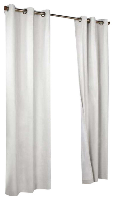 Thermalogic Weather Cotton Fabric Grommet Top Panel Pair White.