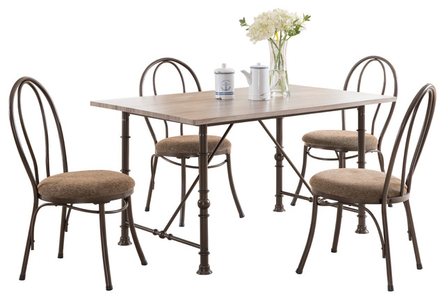 5 Piece Contemporary Rectangular Dining Room Set Dining Sets By Pilaster