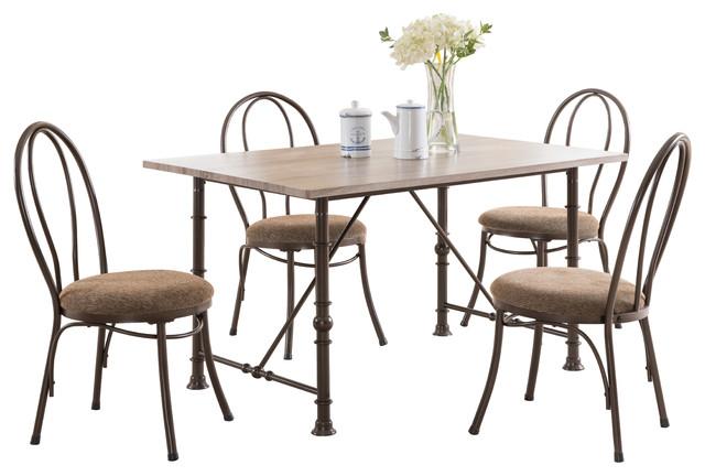 5 piece contemporary rectangular dining room set dining