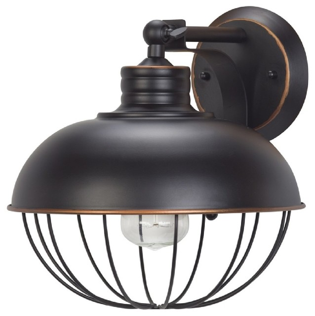 Globe Electric 65413 Elior Caged Wall Sconce Light Oil Rubbed Bronze