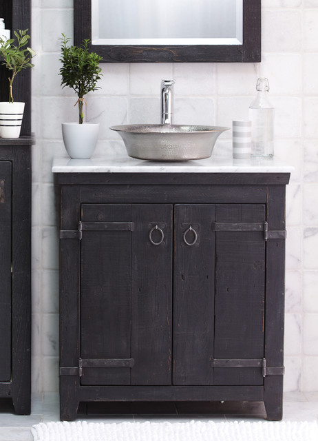 farmhouse bathroom sink vanity  pcd homes, Home design