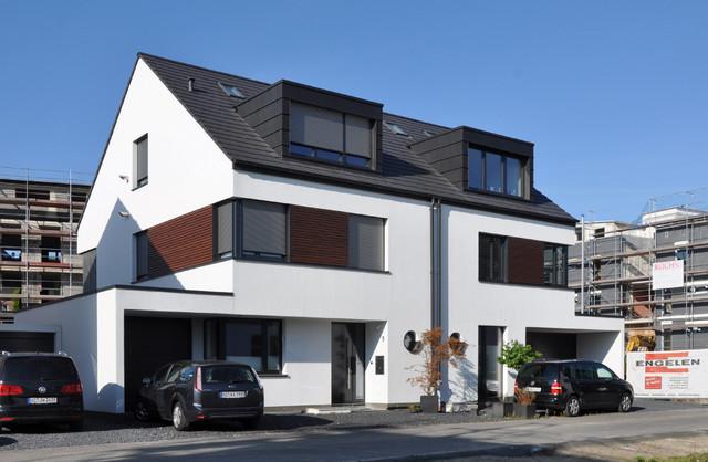 Neubau doppelhaus aachen for Doppelhaus modern
