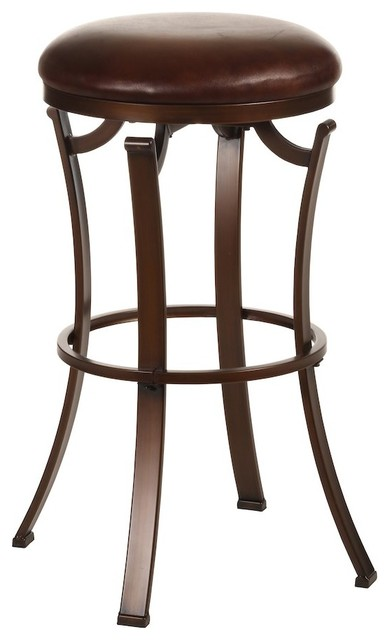 Hillsdale Kelford Backless Swivel Counter Stool Antique