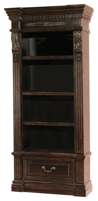 Parker House Grand Manor Palazzo Museum Bookcase, Burnished Black.