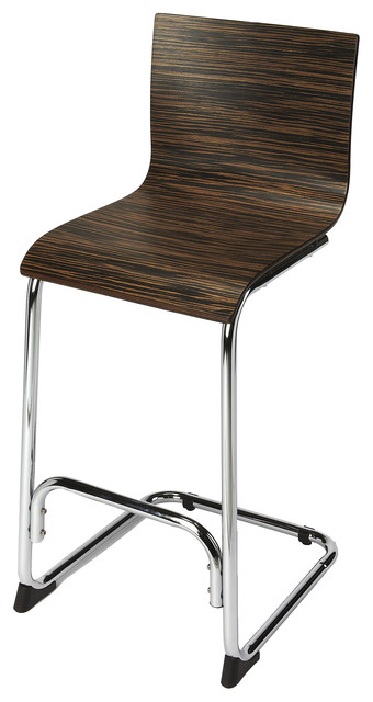 Incredible Butler Dresden Zebra Bentwood Bar Stool Machost Co Dining Chair Design Ideas Machostcouk
