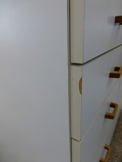 Kitchen cabinets need repair and update