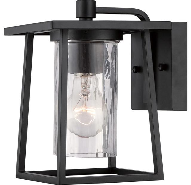 Lodge Outdoor Lantern, Mystic Black, Extra Small.