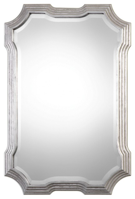 Uttermost Halima Silver Step Mirror.