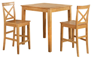 Youngstown 3-Piece Dining Set Counter Height, Oak - Transitional - Dining Sets - by VirVentures