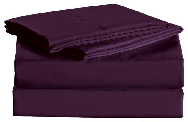 Bedding Sheet, Dark Purple, Full