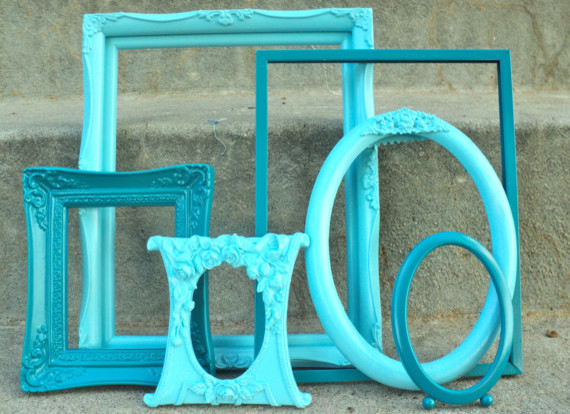 bathroom decorative mirror peacock and aqua ornate picture mirror frame set by 10524