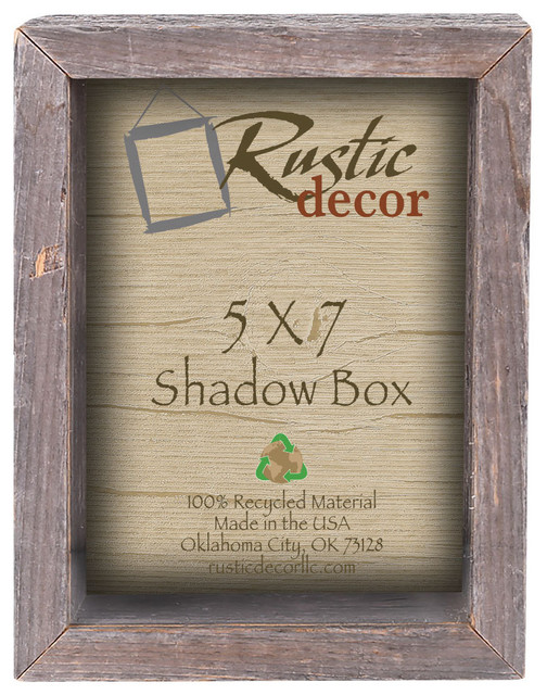8x10 Pine Shadow Box Style  Picture Frame Rustic Western Style