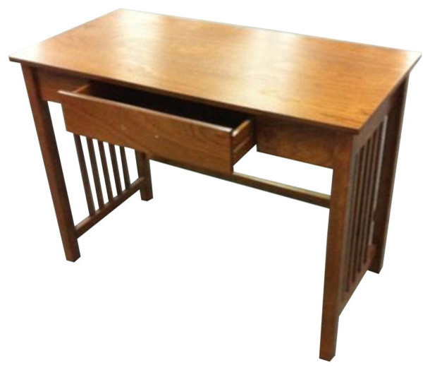 Osp Designs Sierra Writing Desk, Ash Finish With Pull Out Drawer.