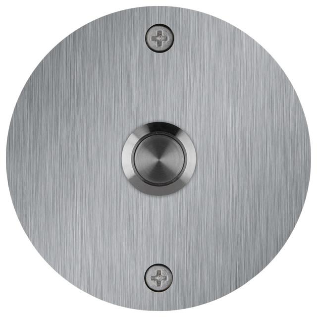 Round Stainless Steel Doorbell Transitional Doorbells