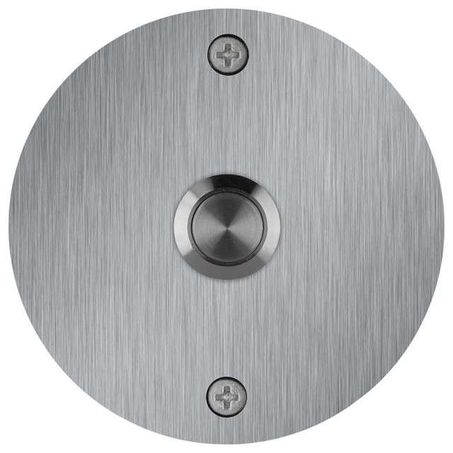Round Stainless Steel Doorbell contemporary-doorbells-and-chimes  sc 1 st  Houzz & Round Stainless Steel Doorbell - Contemporary - Doorbells And ... pezcame.com