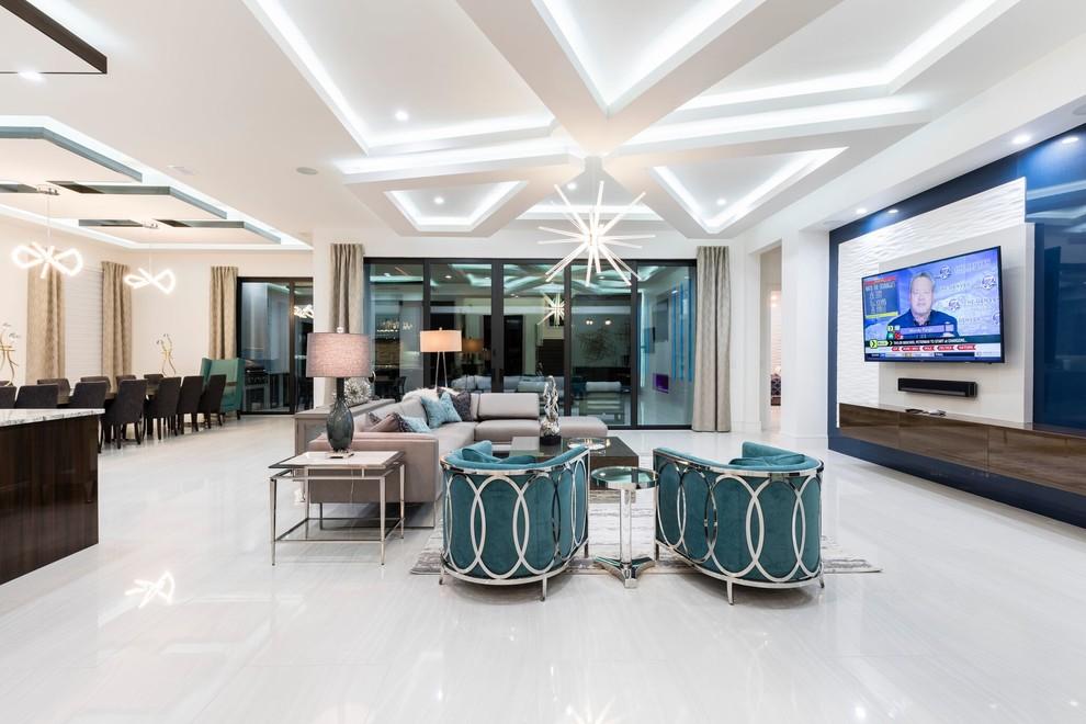 Home design - contemporary home design idea in Orlando