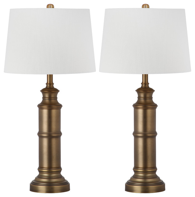 Safavieh 30 inch high mariner brass table lamp transitional lamp sets