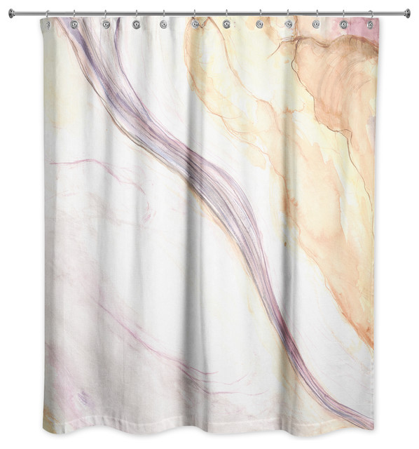 Marbled Watercolor Shower Curtain