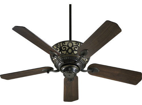 "Quorum International 69525 Cimarron 52"" 5 Blade Indoor Ceiling Fan."