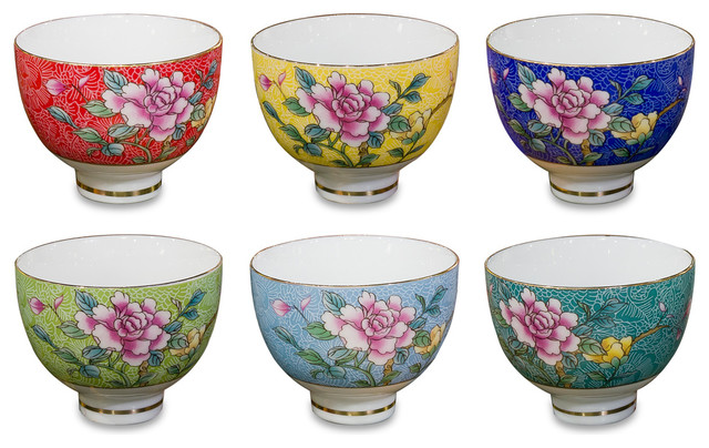 Chinese Style Porcelain Tea Cups 6