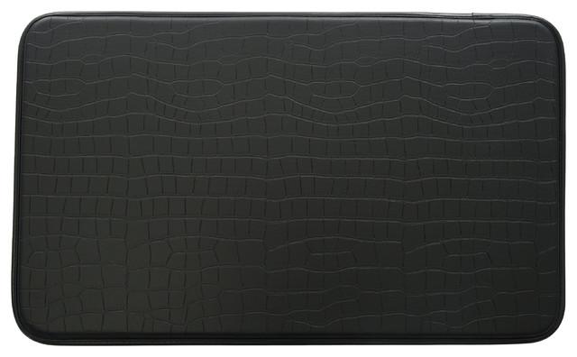 Faux Leather Kitchen Anti Fatigue Mat, Crocodile - Contemporary ...