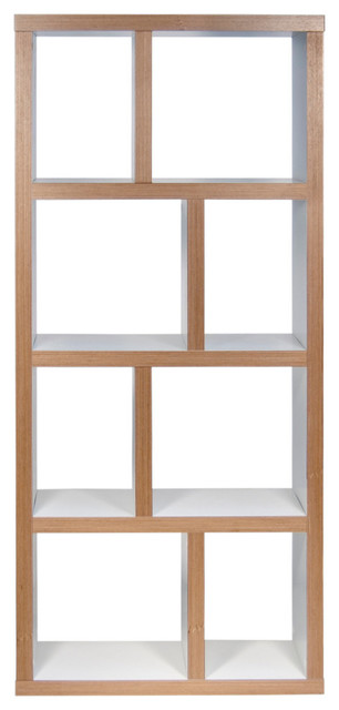 Berlin 4 Levels Bookcase, 70 Cm., Pure White/plywood.