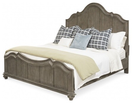A.r.t. Furniture Allie Queen Panel Bed Remnant, Queen.