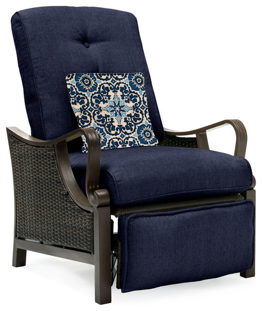 Ventura Outdoor Luxury Recliner Brown and Navy tropical-outdoor-lounge-chairs  sc 1 st  Houzz & Ventura Outdoor Luxury Recliner - Tropical - Outdoor Lounge Chairs ... islam-shia.org