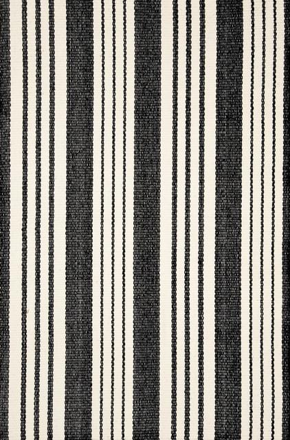 "Birmingham Cotton Woven Rug, Black, 2'5""x8'"