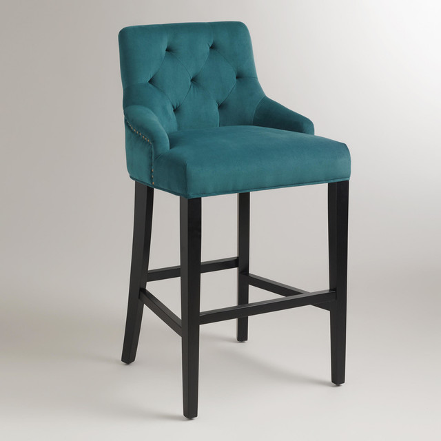 Pacific Blue Lydia Barstool Contemporary Bar Stools And Counter By Cost Plus World Market