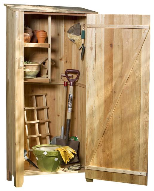 Cedar Storage Hutch, Storage Shed - Traditional - Sheds - by All Things Cedar Inc.