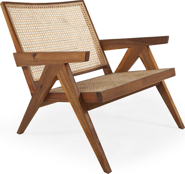 Cool Jeanneret Wide Arm Chair Natural Pabps2019 Chair Design Images Pabps2019Com