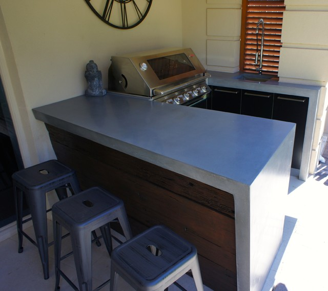 Outdoor Flooring Adelaide: Polished Concrete Worktops, Black