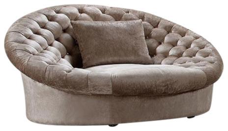Divani Casa Cosmopolitan Modern Fabric Sofa Chair, Beige