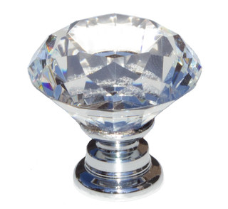 Crystal Diamond-Shaped Cabinet Knob - Traditional - Cabinet And Drawer Knobs - by GlideRite Hardware