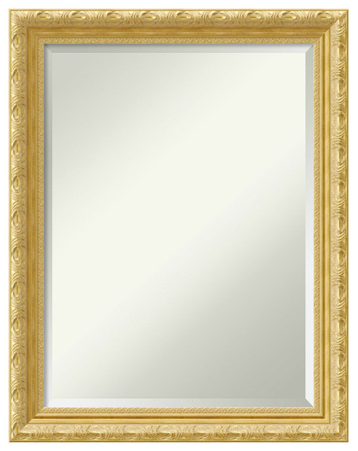 "Wall Mirror Medium Large, Versailles Gold: Outer Size 22x28""."