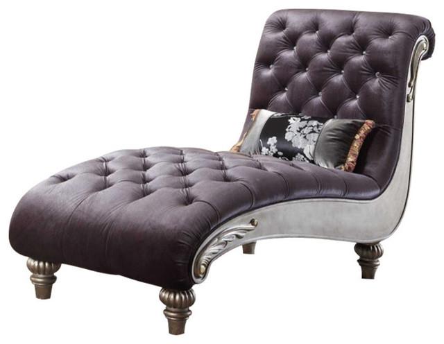 Roma Gray Velvet Chaise traditional-loveseats  sc 1 st  Houzz : velvet chaise - Sectionals, Sofas & Couches