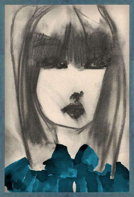"""""""Coquette Teal"""" Artwork, Framed"""